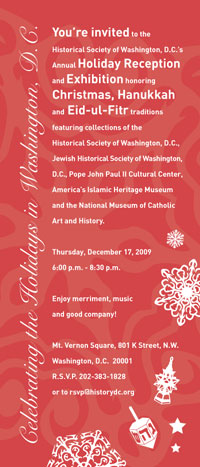 Historical  Society of Washington, DC Annual Holiday Reception and Exhibition